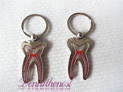 New 2pcs Molar Tooth Car Key Chains For Dentist Clinic Graduation