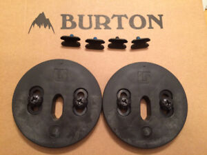 Burton snowboard binding adapter disc for the channel snowboard