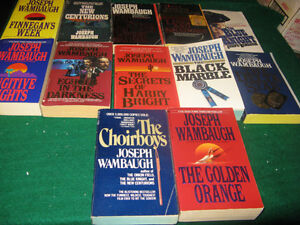 joseph Wambaugh books  $10 for the lot