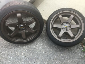 18x8 Vork Racing Rims and Tires