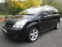 05/55 TOYOTA COROLLA VERSO 2.2 D 7 SEAT ESTATE IN MET BLACK WITH SERVICE HISTORY