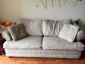 Queen sofa bed+computer chair+tea pot+are table+beanbag chair London Ontario image 1
