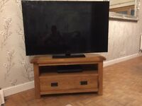 Solid Oak Corner TV Cabinet - As good as new