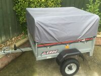 Erde 4x3 galvanised tipping trailer + extension kit