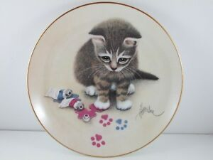 """The Hamilton Collection """"Making Tracks"""" Kitten/Cat Plate No248CA"""