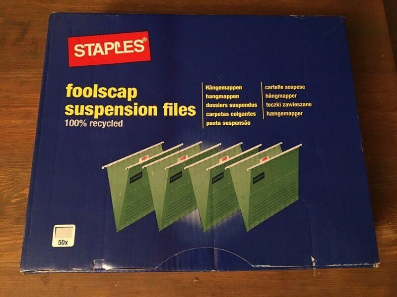 Suspension files, foolscap x 50