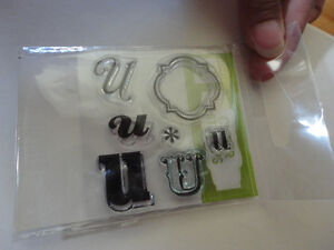 LOT OF CLEAR RUBBER STAMPS TAGS LETTER U London Ontario image 2