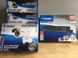 BOXED NEW SWANN PRO SECURITY SYSTEM 9 CHANNEL 500GB 5 CAMERA KIT CCTV COMPLETE SYSTEM BARGAIN