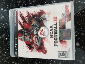 PS3, NCAA FOOTBALL 12