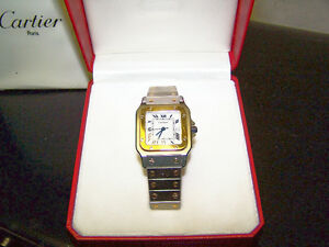 MONTRE RARE CARTIER SANTOS 40 ANS NEUVE 18KT. COLLECTION