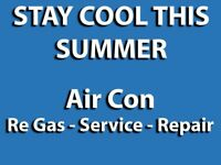 Mobile Air Con Conditioning Service A/C Recharge Regas Repair AC Glasgow Area £35
