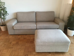 Couch with footrest (storage)