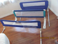 Safety rails for toddler beds