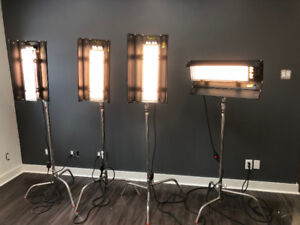 Kino Flo Diva-Lite 201 with stands