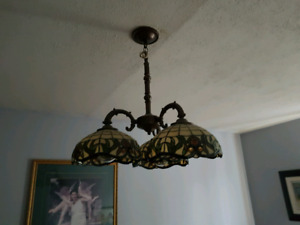 Tiffany style stained glass ceiling light