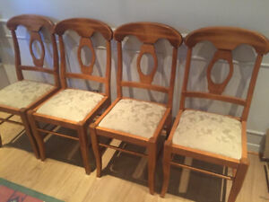 4 Farmstyle solid maple chairs