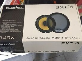 Brand new Inphase 6.5 inch shallow speakers