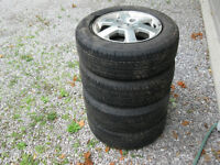 4 tires and mags for 2001 Honda Accord