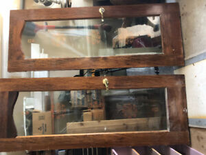 $60 each Antique wood doors glass and chalkboard