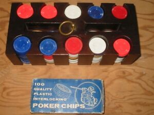 POKER TRAY WITH CHIPS