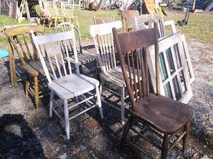 Vintage/antique wood chairs Peterborough Peterborough Area image 1