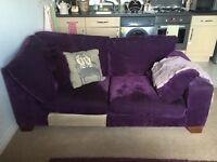Purple Three Seater Sofa