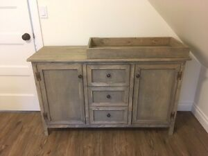Rustic change table or dresser