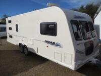 Bailey Pegasus 646 2010 6 Berth Triple Fixed Bunks Twin Axle Touring Caravan