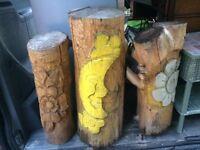 Carved wood sculptures