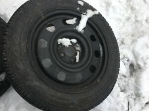 225/55R17 ( HIVER ) 4 GOODYEAR ULTRA GRIP ICE sur JANTE CHRYSLER