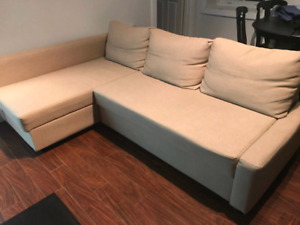 Excellent condition ikea sofa bed sectional.
