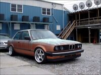 Borbet deep dish alloy wheels, 4x100 Vw Golf Bmw e30 etc