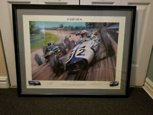 DIECAST LITHOGRAPH OF THE MOVIE GRAND PRIX (1966)