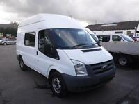 FORD TRANSIT 330 MWB HIGH ROOF DOG VAN, White, Manual, Diesel, 2009