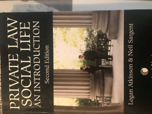 Private Law Social Life an Intro. Legal studies UoIT text book