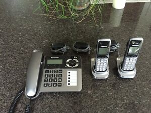 Panosonic Phone System KX-TG1061C (Wired / Wireless)