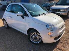 2013 '13' Fiat 500 1.2 LOUNGE. White. Petrol. Stunning. Px Swap