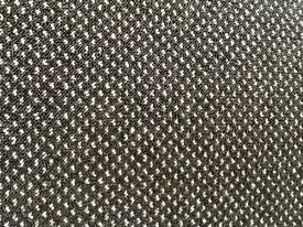 9ft by 13 ft dark grey carpet with light grey dot