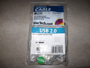USB 2.0 6 foot Digital Camera cable-new in package + more-Lot $5
