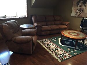 Reclining lounger and sofa
