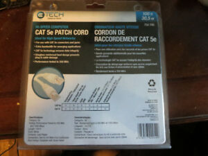 100 FT - CAT 5E PATCH / NETWORK - CORD / CABLE NEW - SEALED