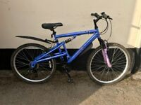 "LADIES BLUE MOUNTAIN BIKE 20"" FRAME £45"