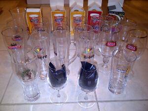 Verres de collection divers (NEUFS.Ideal pour amateurs de biere)