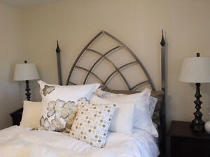 Gothic Iron Headboard, Bed frame and Table