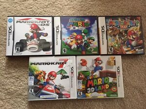Mario DS and 3DS games