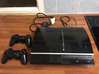 PlayStation 3!! 80gb.. 2 controls... 8 games
