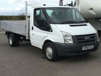 FORD TRANSIT T350 2.4TDCI 100BHP MWB FLAT BED TRUCK IN WHITE. ONE OWNER.