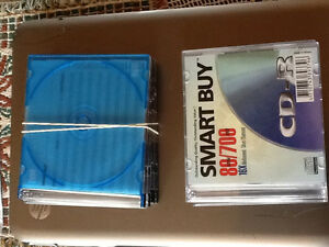Blank CDs with cases and extra empty cases
