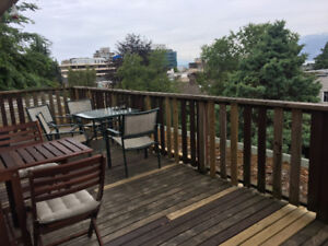 $1265 PENTHOUSE Suite On West 11th. (South Granville)