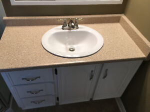 Bathroom cabinet and new countertop